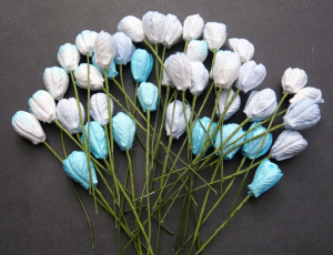 TULIP FLOWERS 130 - MIXED BLUE TONE - 40 STK