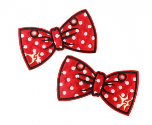 Bilde av Red with White Polka Dot Bow Shwings