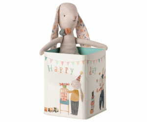 Bilde av Metall - Happy day bunny medium -  fra Maileg