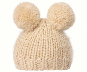 Bilde av Best Friends knitted hat 2 pompom Cream fra Maileg