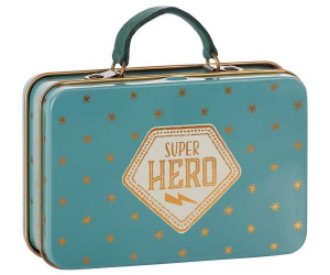 Bilde av Metallkoffert blue with gold stars Super Hero fra Maileg