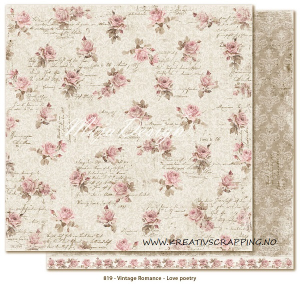 MAJA DESIGN - VINTAGE ROMANCE 819 - LOVE POETRY