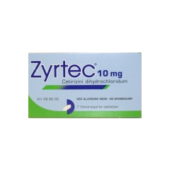 Bilde av ZYRTEC 10MG 7 TABLETTER
