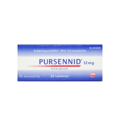 Bilde av PURSENNID 12MG 20 TABLETTER