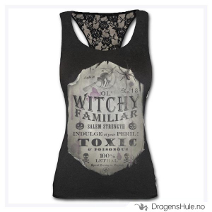Bilde av Topp: Witchy Familiar Racerback