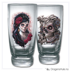 Bilde av Glass: Day of the Dead vannglass (par)
