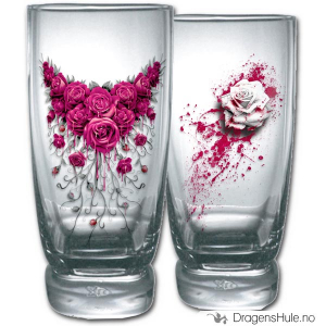Bilde av Glass: Blood Rose vannglass (par)