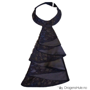 Bilde av Jabot: Black Satin and Lace