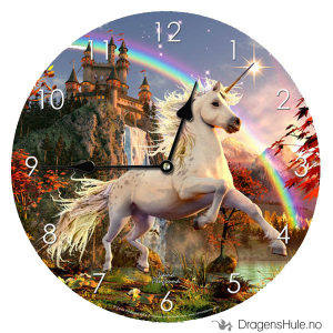 Bilde av Veggklokke: David Penfound -Unicorn Evening Star -34cm