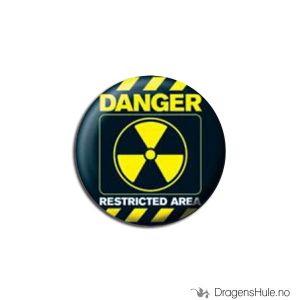 Bilde av Button 25mm: Danger - Restricted Area