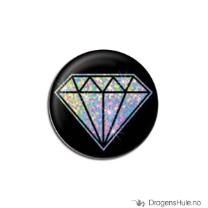 Bilde av Button 25mm: Diamant holo