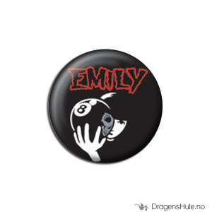 Bilde av Button 25mm: Emily Strange 8 Ball