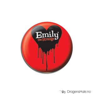 Bilde av Button 25mm: Emily Strange Bleeding Heart