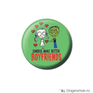 Bilde av Button 25mm: Eve L. -Zombies make better boyfriends