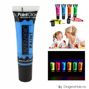 Bilde av Tekstilmaling: Neon Blue UV Fabric Paint -10ml PaintGlow
