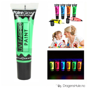 Bilde av Tekstilmaling: Neon Green UV Fabric Paint -10ml PaintGlow
