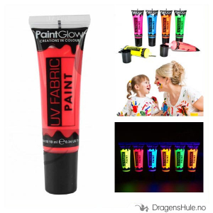 Bilde av Tekstilmaling: Neon Red UV Fabric Paint -10ml PaintGlow