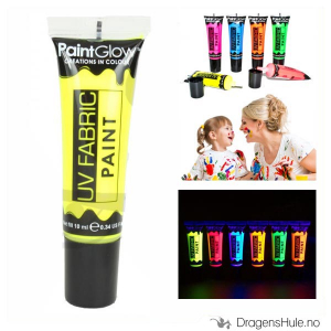 Bilde av Tekstilmaling: Neon Yellow UV Fabric Paint -10ml PaintGlow