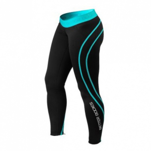 Bilde av BB Athlete Tights - Black/Aqua - 1 stk