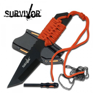 Bilde av Survivor Neck-Knife med Firestarter - Orange