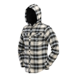 Bilde av Dye Hooded Flannel Black/Blue/Tan - Strl. XL