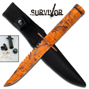 Bilde av Snake Eye - Mini Survival Kniv - Lava Camo