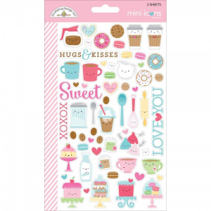 DOODLEBUG - STICKERS - CREAM & SUGAR ICONS MINI