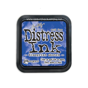 DISTRESS DYE INKS PAD - BLUEPRINT SKETCH - JULY 2015