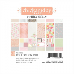 CHICKANIDDY CRAFTS - TWIRL GIRLY - PAPER PAD 6x6