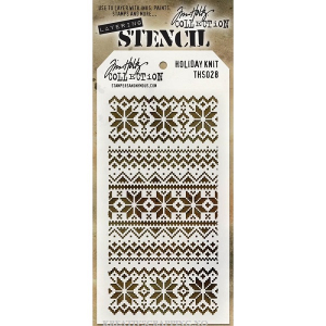 TIM HOLTZ - LAYERED STENCIL THS028 - HOLIDAY KNIT