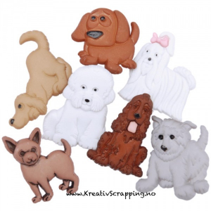 BUTTONS - DRESS IT UP 4674 - PUPPY PARADE