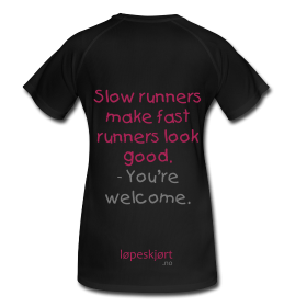 Bilde av T-skjorte svart/rosa Slow runners make fast runners look good
