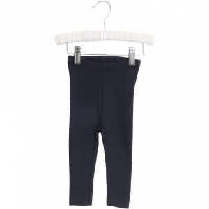 Bilde av  Wool leggings til baby i navy fra Wheat