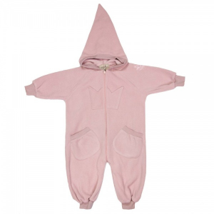 Bilde av Bunny fleece overall dusty rose fra MeMini