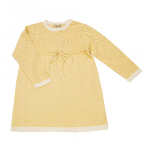 Bilde av Eira Knit Dress Pale Yellow fra MeMini