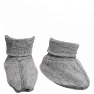 Bilde av Felted Wool booties i melange grey fra Wheat
