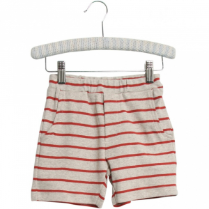 Bilde av Baby basic shorts stripete Aske paprika fra Wheat