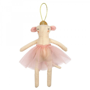 Bilde av Tree Decoration Ballerina Mouse fra Meri Meri