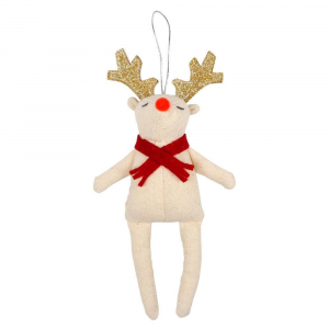 Bilde av Tree Decoration red scarf Reindeer fra Meri Meri