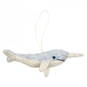 Bilde av Tree Decoration sequin narwhal fra Meri Meri
