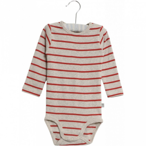 Bilde av Baby basic body stripete i paprika fra Wheat