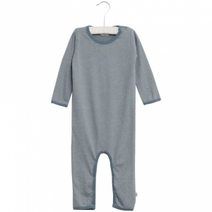 Bilde av Baby basic heldress Thomas stripete i fargen dusty blue fra