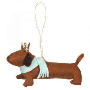 Bilde av Tree Decoration Felt Sausage Dog fra Meri Meri