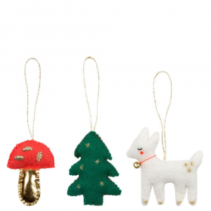 Bilde av Tree Decoration Set Woodland  fra Meri Meri
