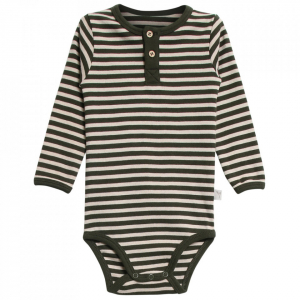 Bilde av Baby body frills dark army fra Wheat