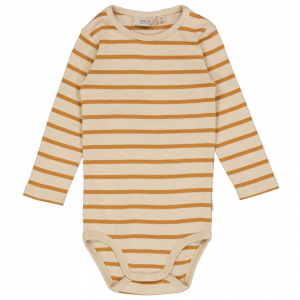 Bilde av Baby basic body stripete i almond fra Wheat