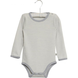 Bilde av Wool body i stripete dusty dove fra Wheat