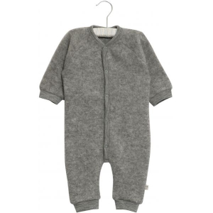 Bilde av Felted Wool Jumpsuit melange grey fra Wheat
