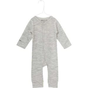 Bilde av Mattie romper merinoull/bambus light grey melange fra Mini