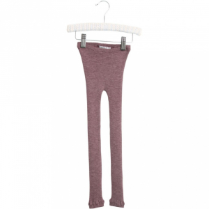 Bilde av Wool leggings i lace plum melange fra Wheat
